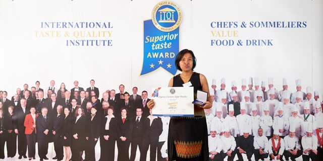 3 GOLDEN STARS SUPERIOR TASTE AWARD FOR ALIET GREEN